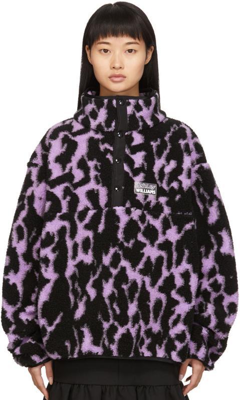 Ashley Williams Purple Fleece Juju Pullover