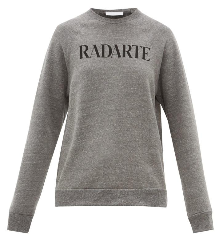 Radarte-print fleece-back jersey sweatshirt