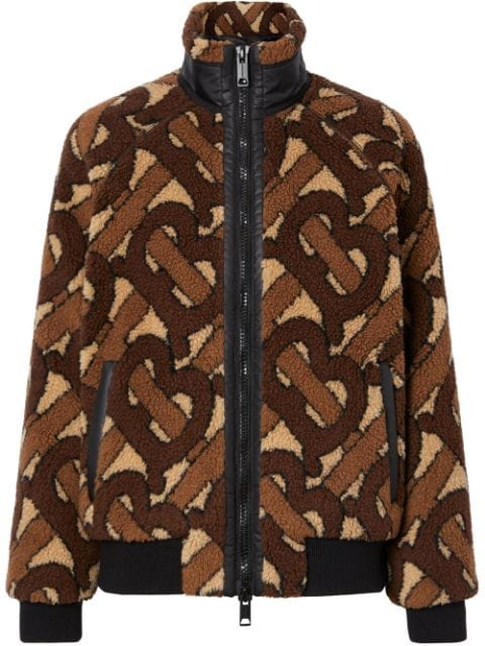 Burberry Lambeth Monogram Fleece Jacket