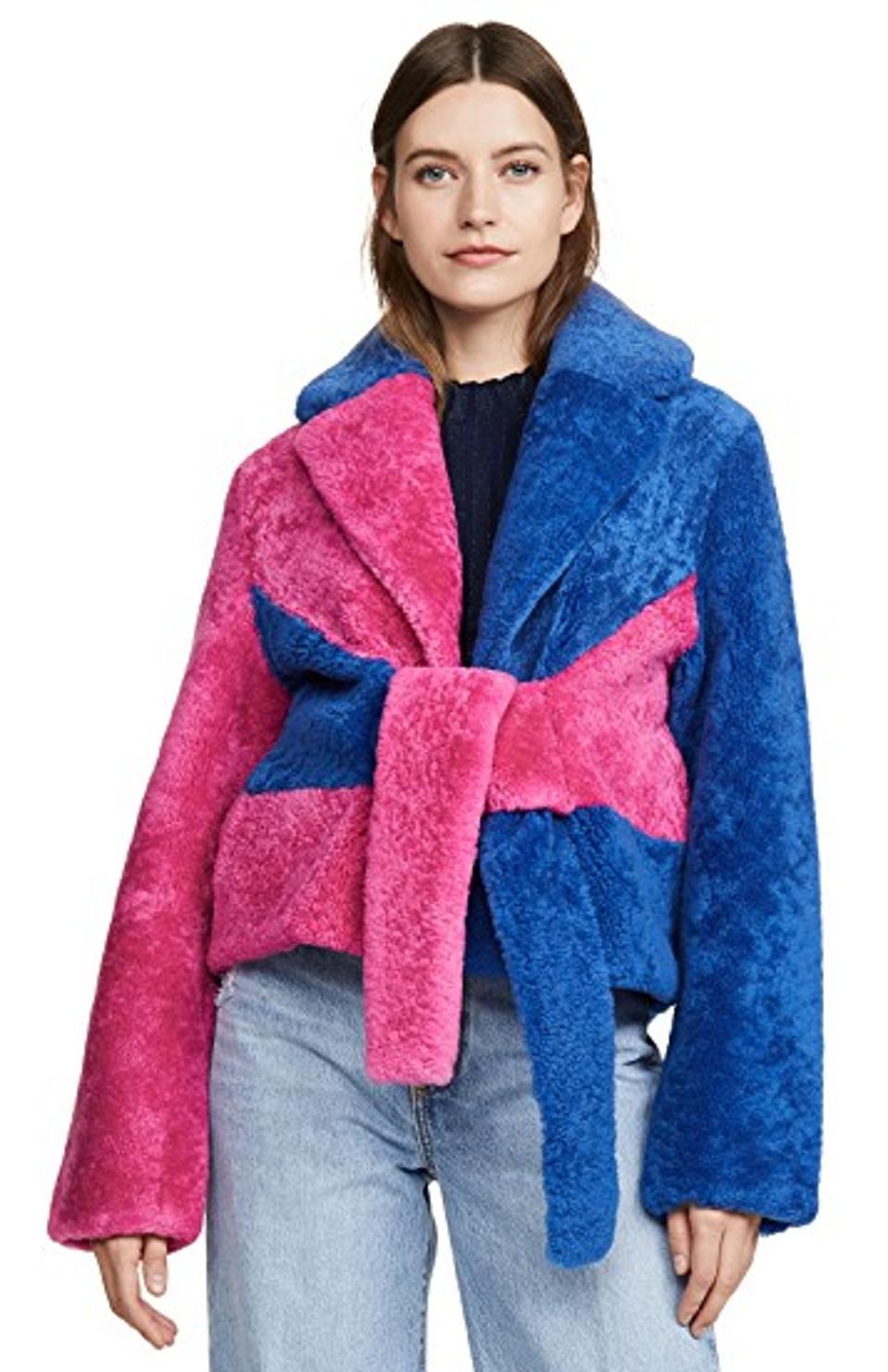 Saks Potts Colorblock Shearling Jacket