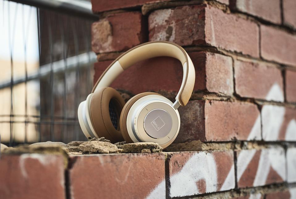 Headphones near bricks