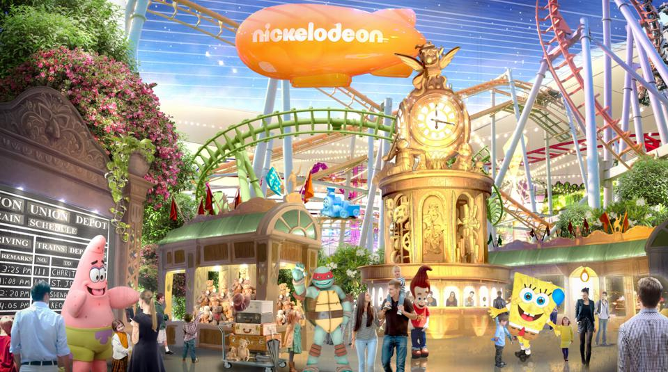 Nickelodeon theme park at American Dream