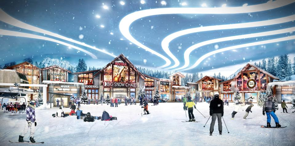 Ski Chalet rendering at American Dream