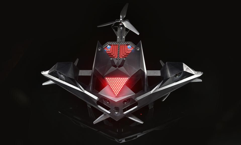The DRL RacerAI is the circuit's first-ever autonomous drone.