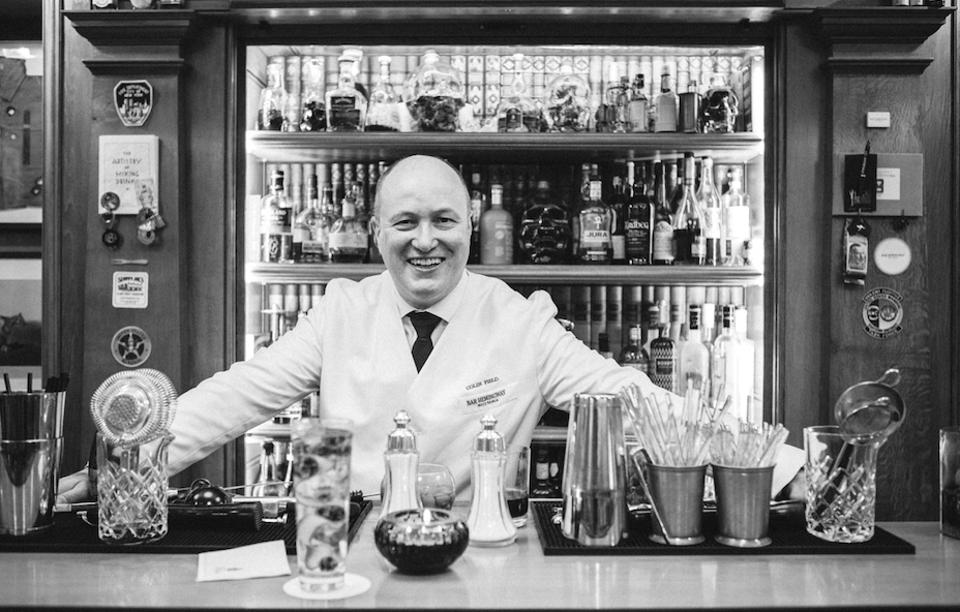 Colin Peter Field, head bartender at the Ritz Paris.