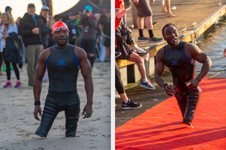 Paralympic USA swimmer, and runner Roderick Sewell will take on another Ironman October 12