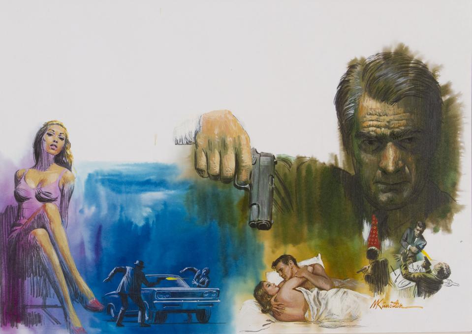 Mort Künstler, Godfather Montage, mixed media, gauche on board, ©1969 Mort Künstler, Inc.