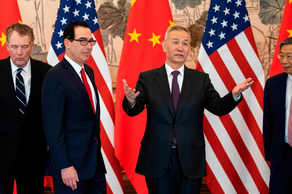 Negotiators from China and the U.S. resumed trade talks in Beijing on March 29.