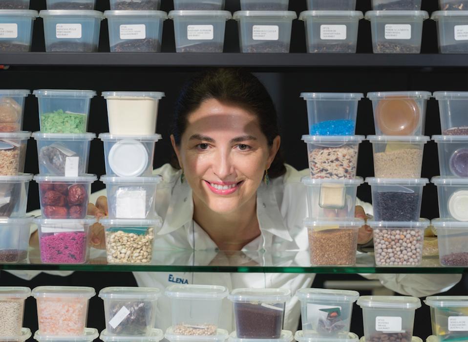 Elena in the laboratory..