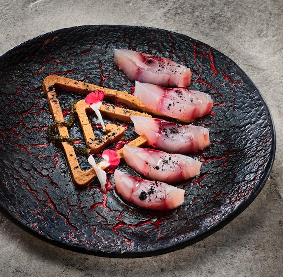 A new dish, mackerel with shio koji.