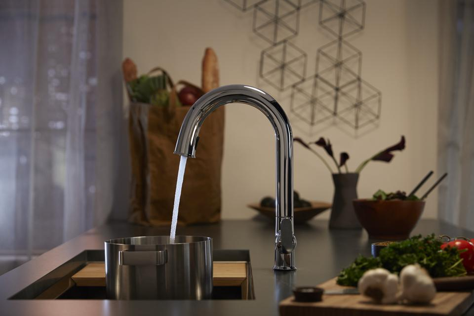 Hands-free faucet from Kohler