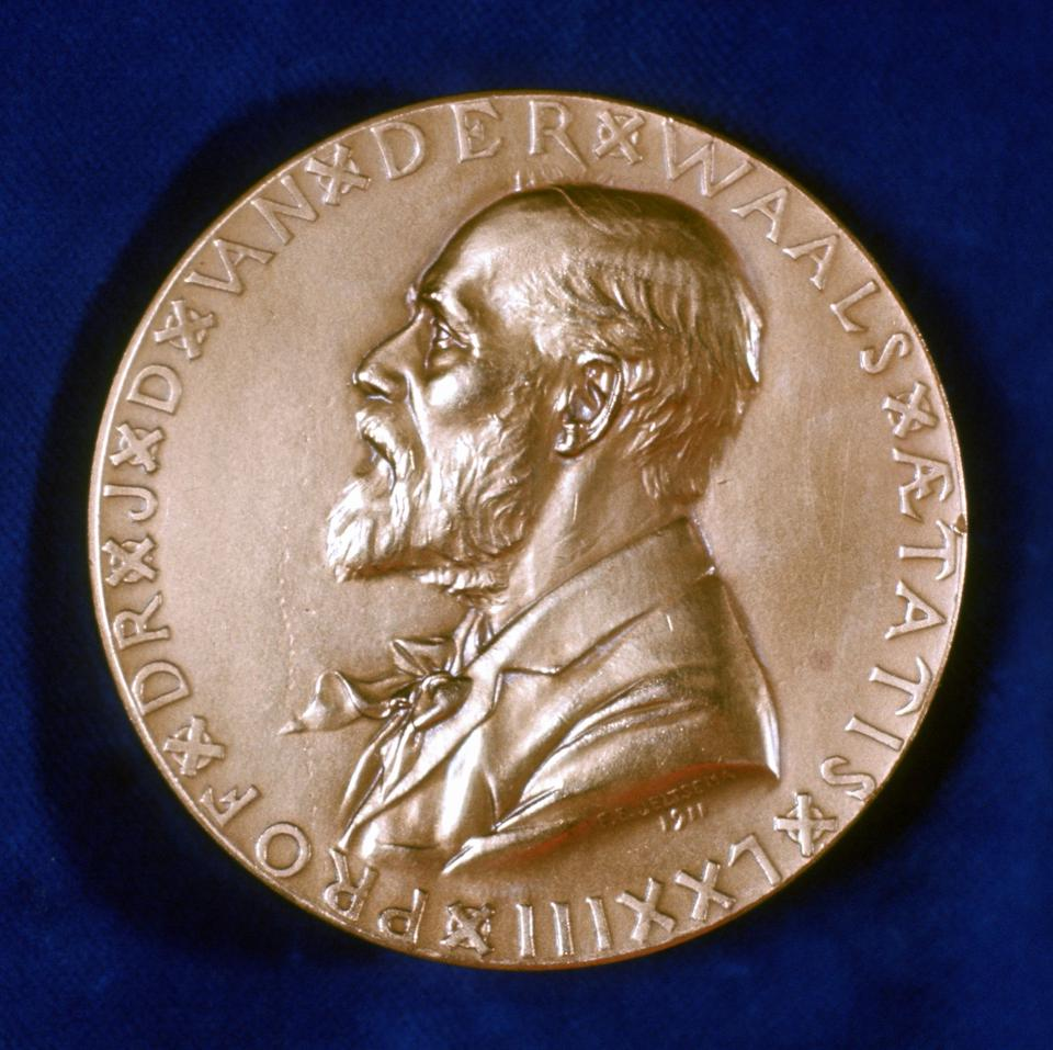 Commemorative medal of Nobel Prize winner, Johannes Diderik Van Der Waals