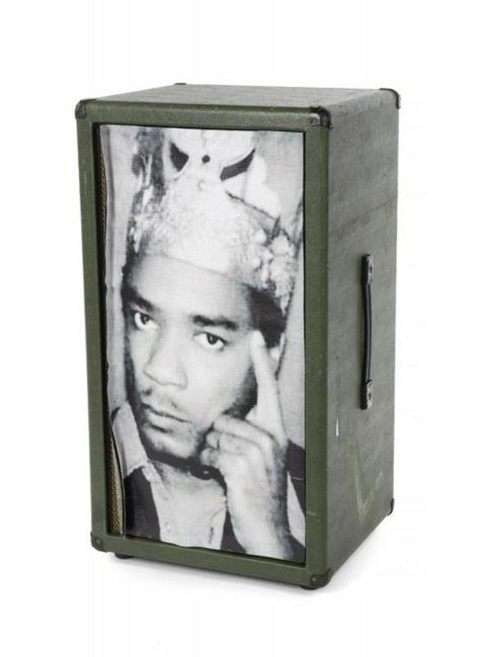 Walter Becker's MESA/Boogie speaker cabinet, with photo of King Tubby on front