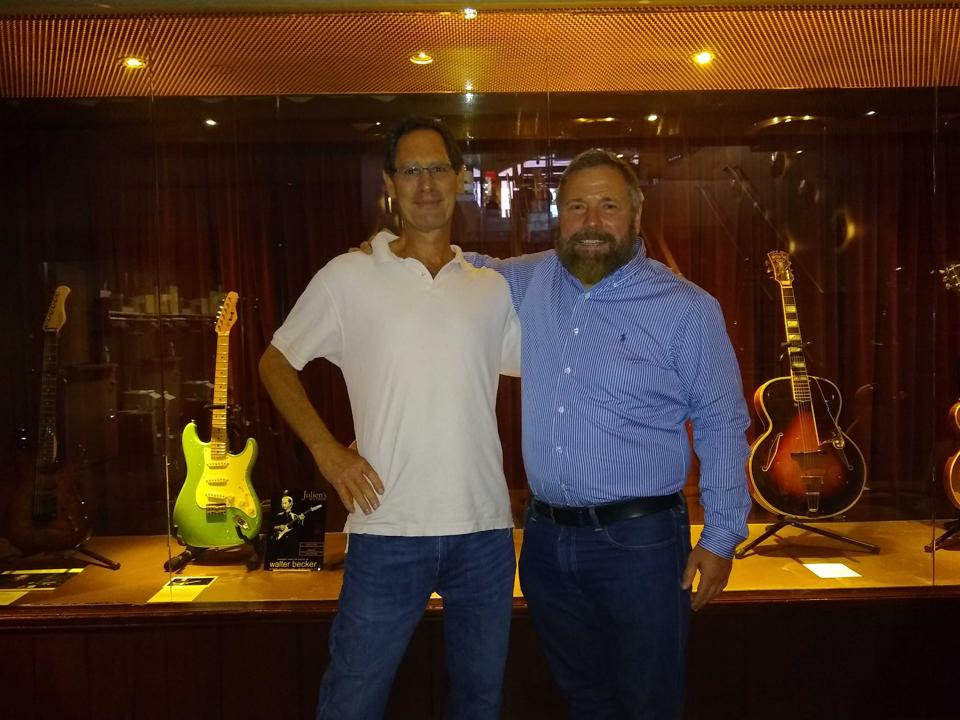 Barden Prisant with Darren Julien and some of Walter Becker's guitars