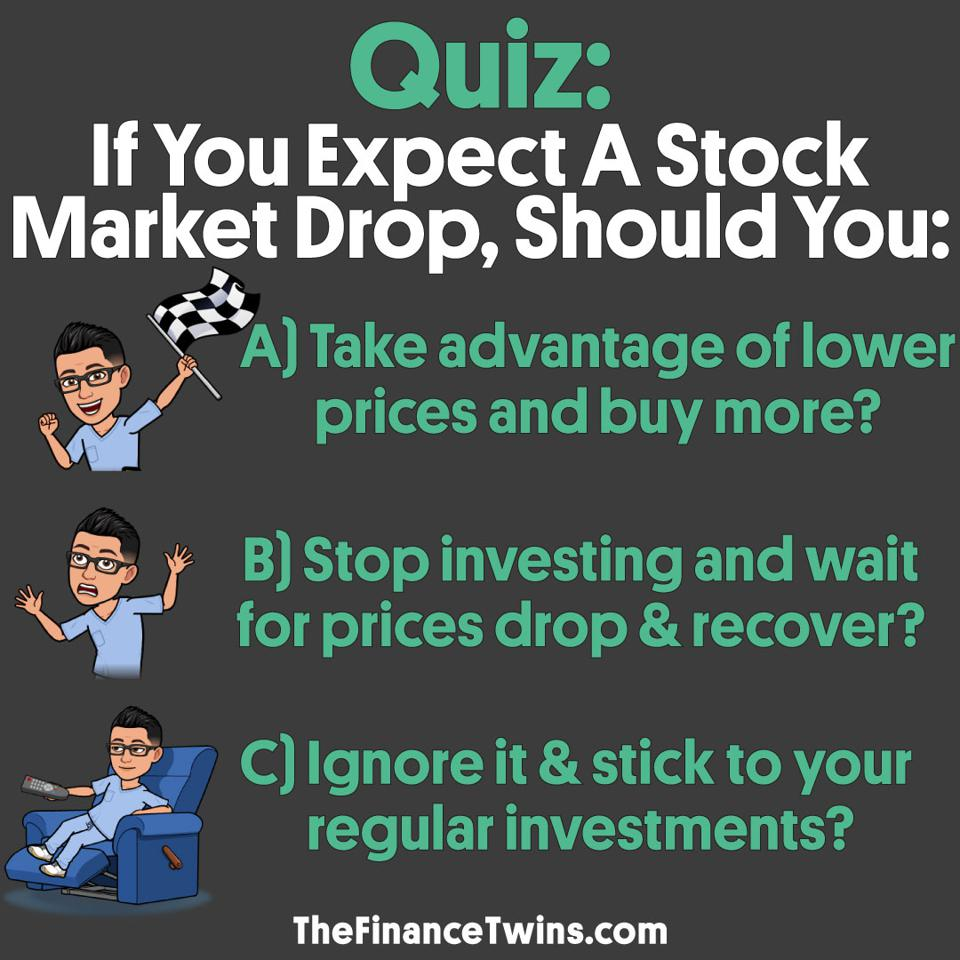 If you expect a stock market drop, you should ignore it and stick to your investments.