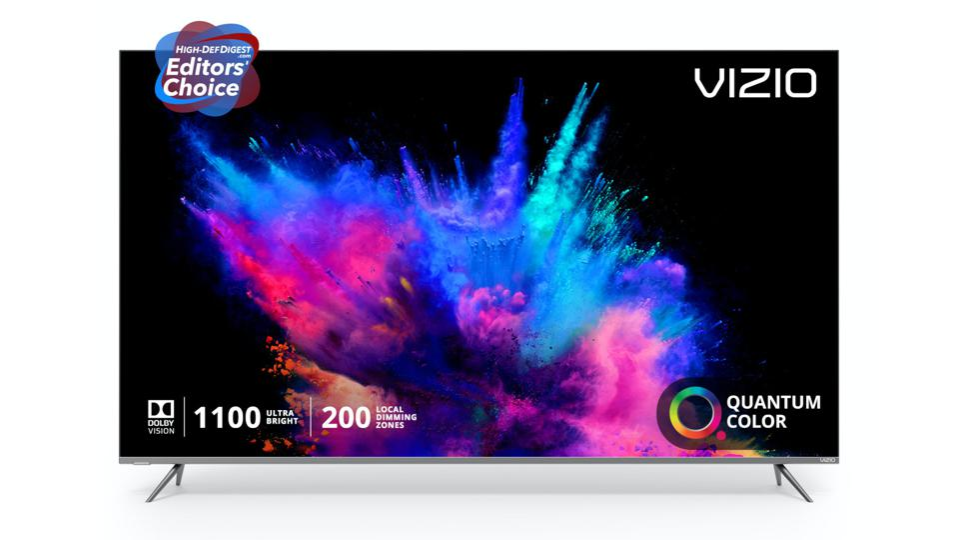 Vizio P-Series Quantum TV with colorful image on display.