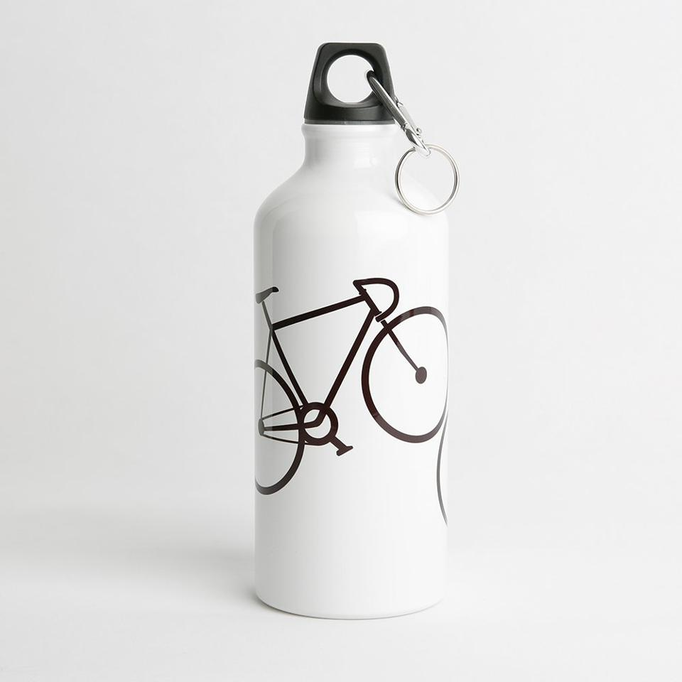 water bottle with a bike