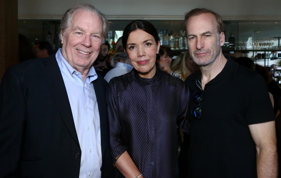 ″Better Call Saul's″ Michael McKean and Bob Odenkirk with Sarah Barnett at the AMC Emmy Brunch