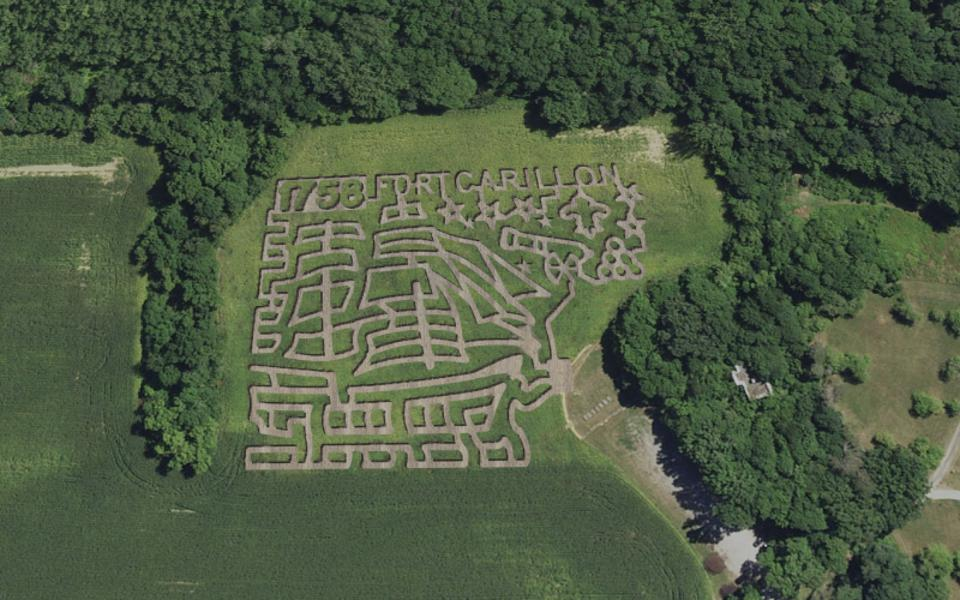 The corn maze is popular among visitors to Fort Ticonderoga.