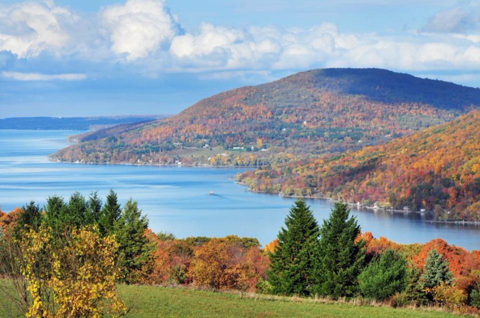 The New York Finger Lakes in all of its fall splendor.