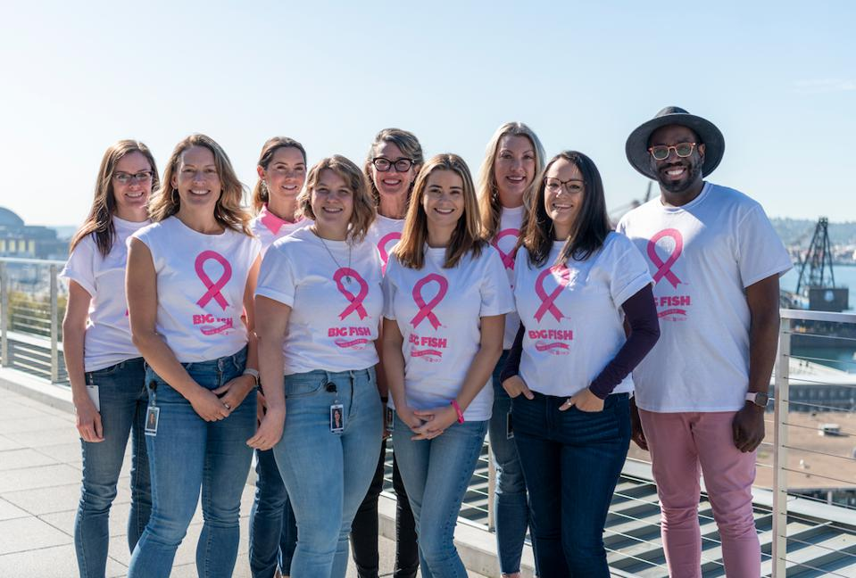 Big Fish Games employees come together for Breast Cancer Awareness Month.