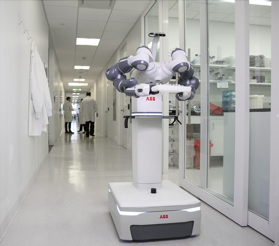 Working side by side, mobile and autonomous robots could be coming soon to a medical center near you.
