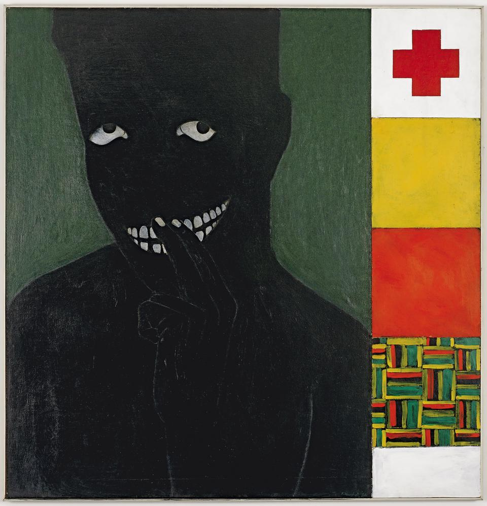 Kerry James Marshall, 'Silence is Golden,' 1986. Acrylic on panel 49 × 48 in. The Studio Museum in Harlem; gift of the Artist 1987.8.