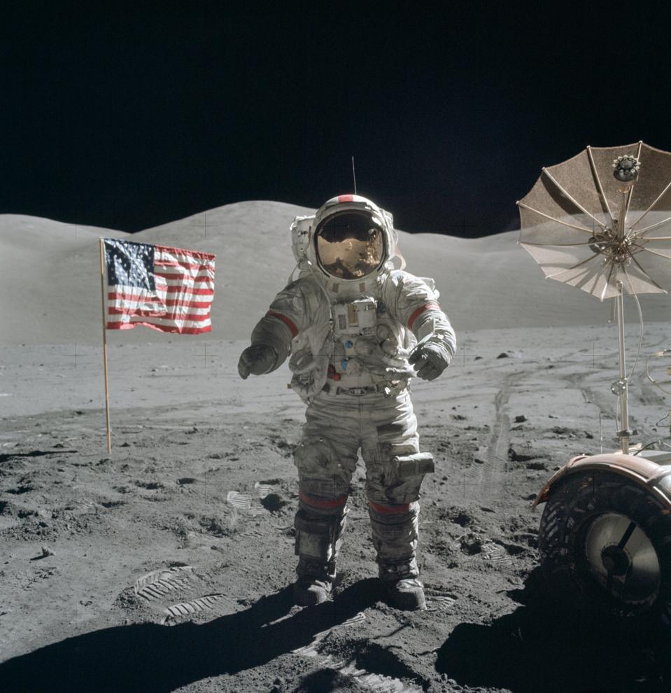Eugene Cernan during Apollo 17