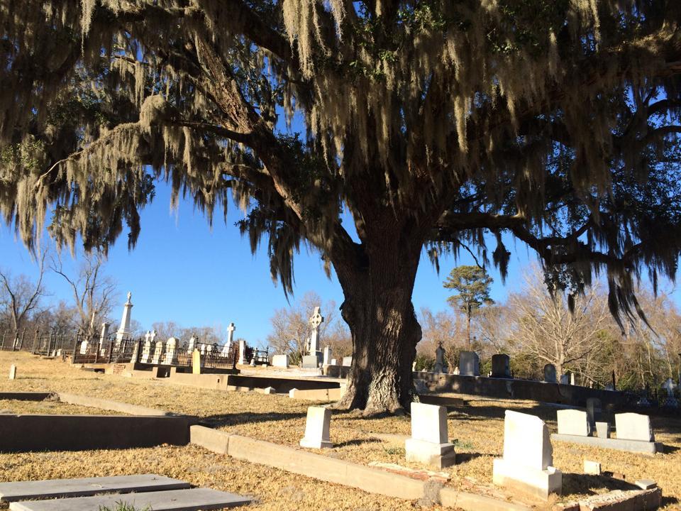 Natchez hřbitov na prohlídce duchů