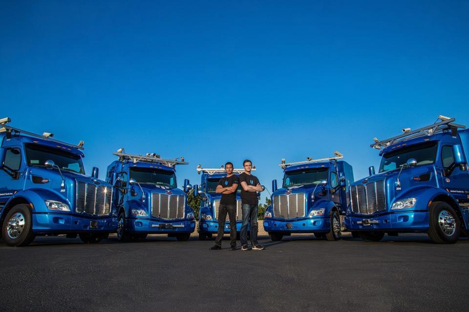 Embark co-founders Alex Rodrigues, left, and Brandon Moak
