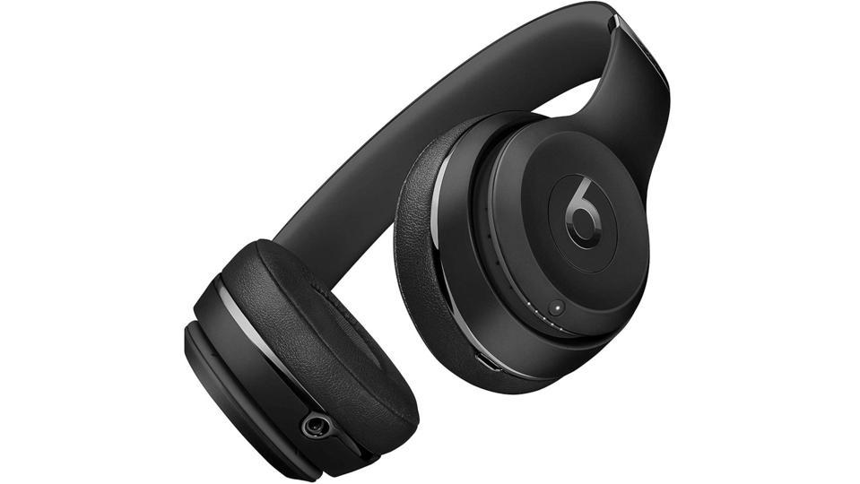 Black Beats Solo3 Wireless headphones.