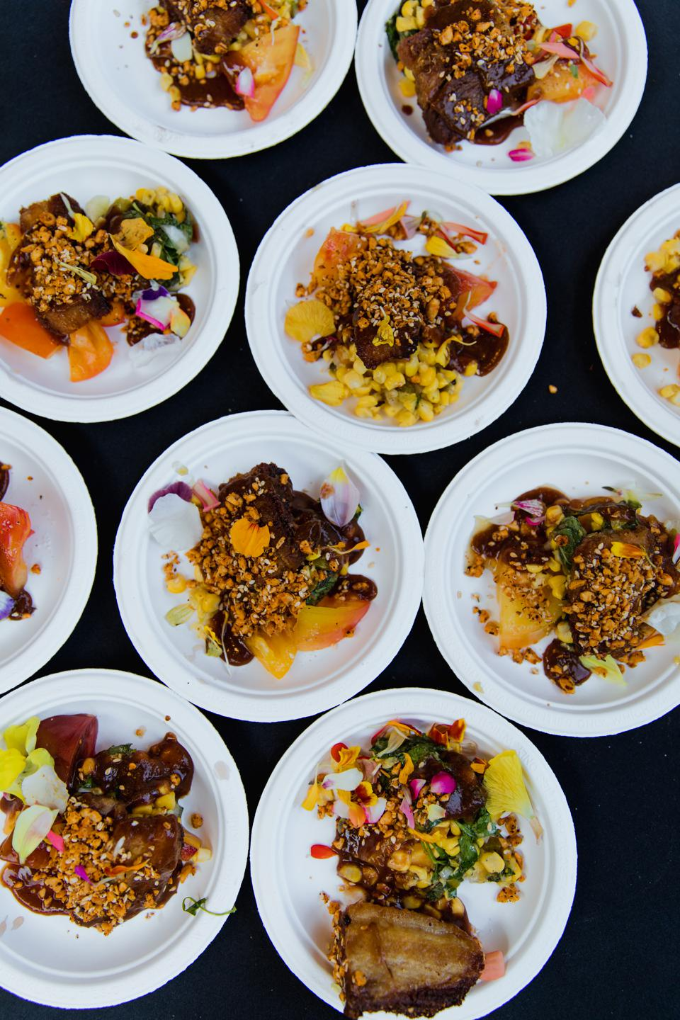 A selection of food at at the ″East vs. West″ event at Feast Portland.