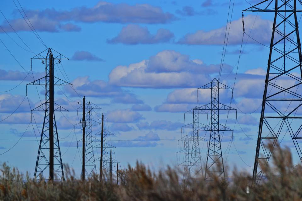Electricity transmission lines--adding capacity.