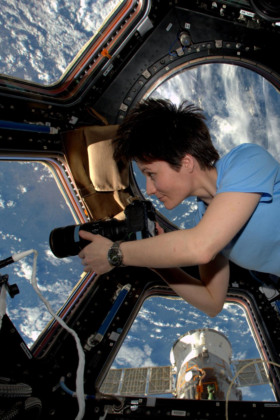 ESA astronaut Samantha Cristoforetti on the International Space Station 3 February 2015 during her Futura mission.