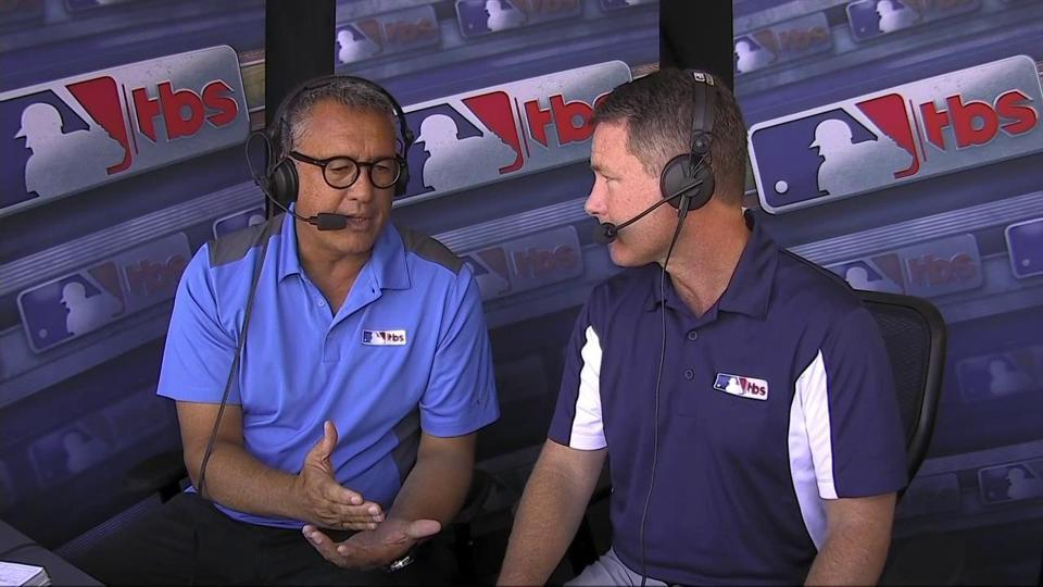 Ron Darling talking baseball in the broadcast booth with Brian Anderson, on MLB On TBS.