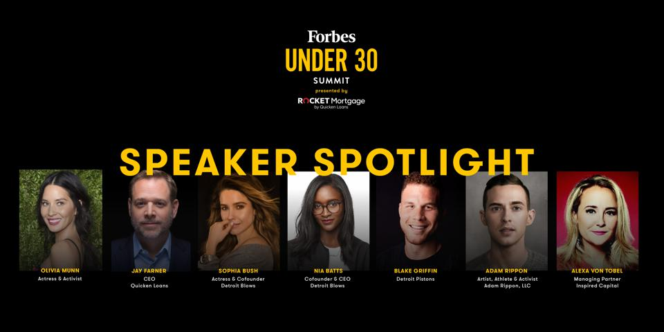 Actress Olivia Munn, Quicken Loans CEO Jay Farner, Actress Sophia Bush, Detroit Pistons Star Blake Griffin And Other Influential Leaders To Speak At 2019 Under 30 Summit in Detroit