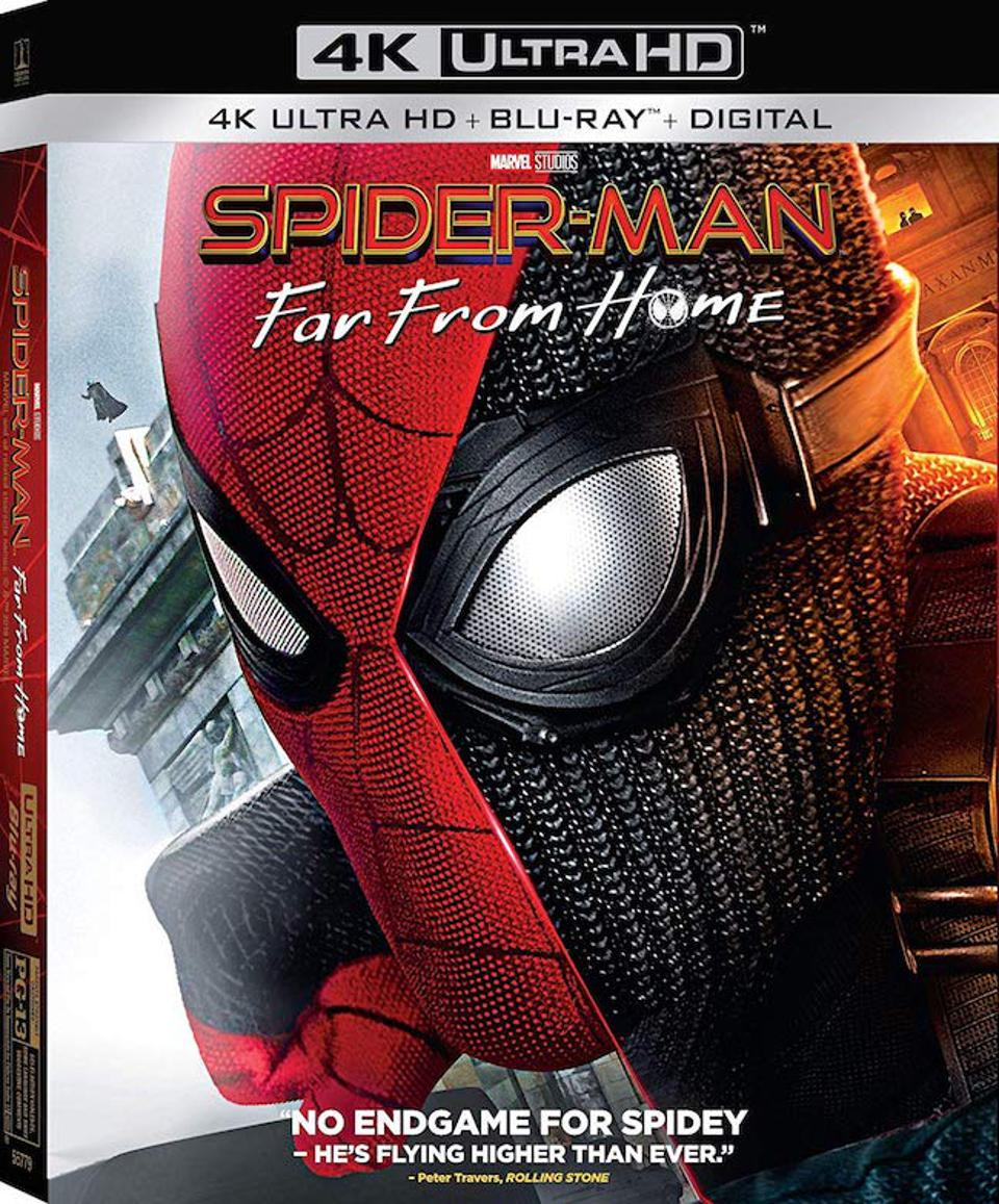 The Spider-Man: Far From Home 4K Blu-ray cover art.