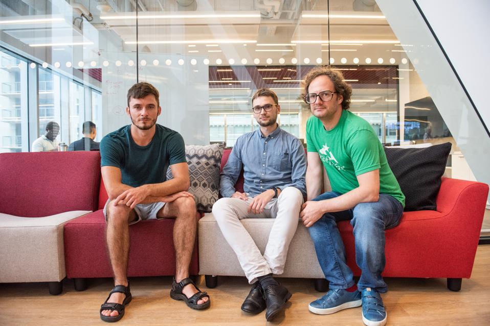 Respeecher Founders, Oleksandr Serdiuk, Grant Reaber, and Dmytro Bielievtsov