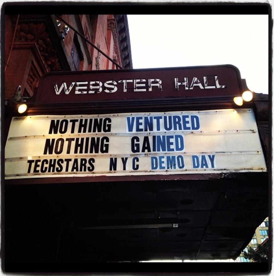 David Tisch hosted Techstars' demo day at concert venue Webster Hall.