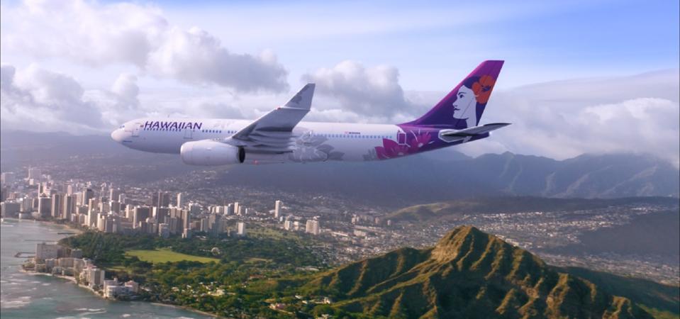 Hawaiian Air and Diamond Head