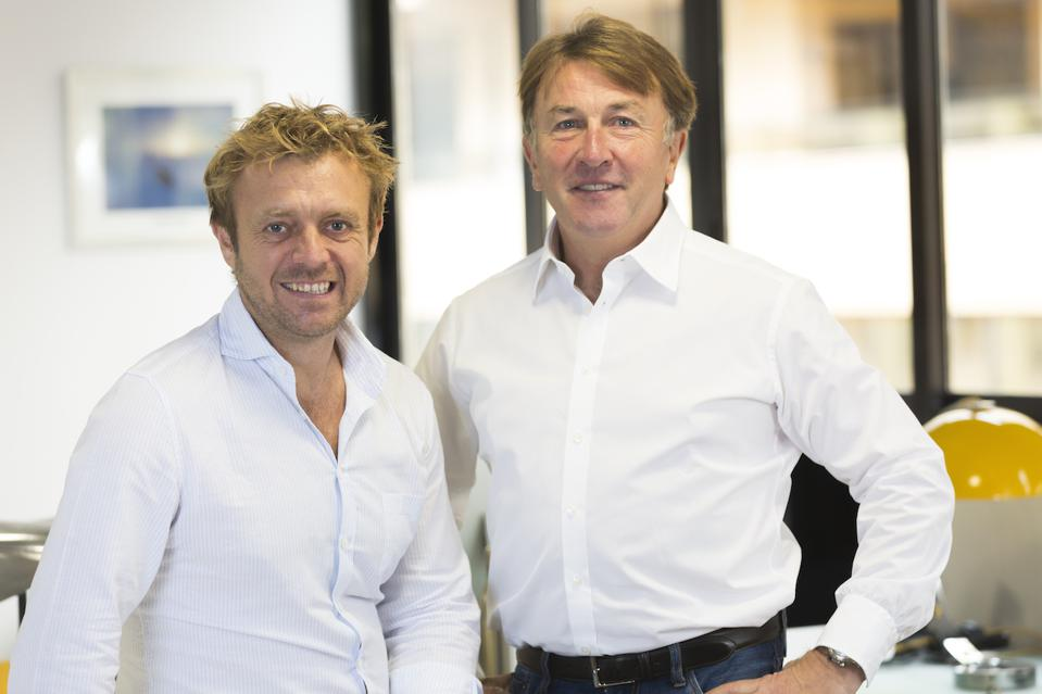 Y.co Co-Founders Charlie Birkett (left) and Gary Wright (right) in their Monaco office.