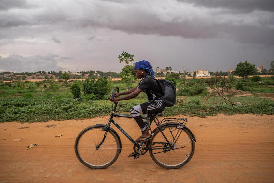 Academie Atcha gave Pascaline a bike, school materials, soccer clothes and the chance to pursue her dreams.