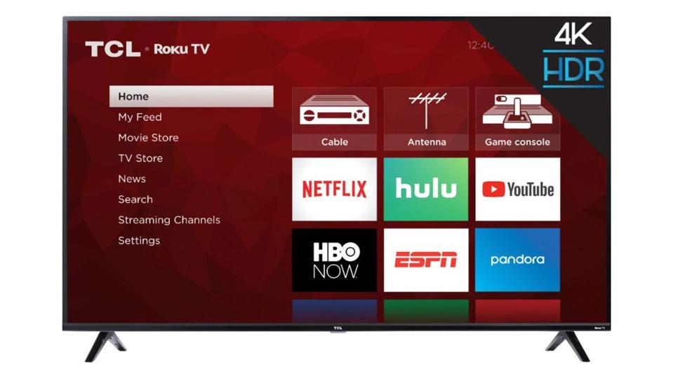 55-inch TCL S425 TV with Roku.