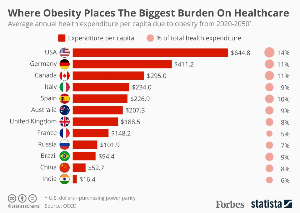 Where Obesity Places The Biggest Financial Burden On Healthcare [Infographic]