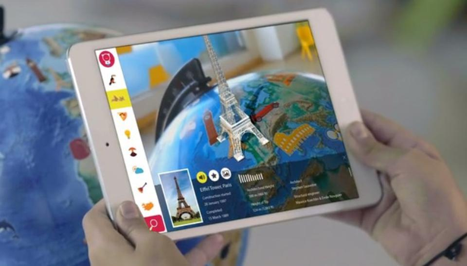 Orboot is a 10-inch globe and companion app (iOS or Android) that lets kids check out the world and complete activities in an augmented reality environment.