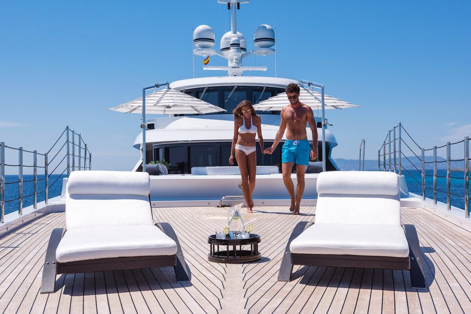 Superyacht charters provide privacy, comfort and let face it, they are pretty romantic too.