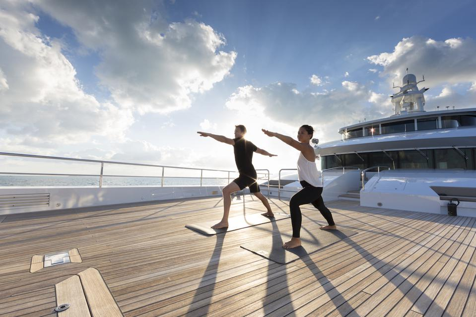 A superyacht charter can be the ultimate wellness retreat.
