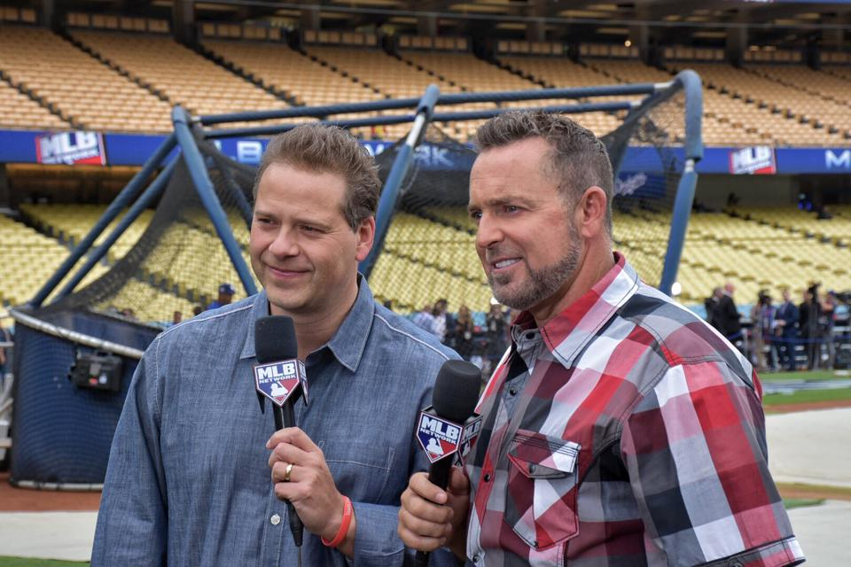 Chris Rose and former pro Kevin Millar host ″Intentional Talk″ on MLB Network.
