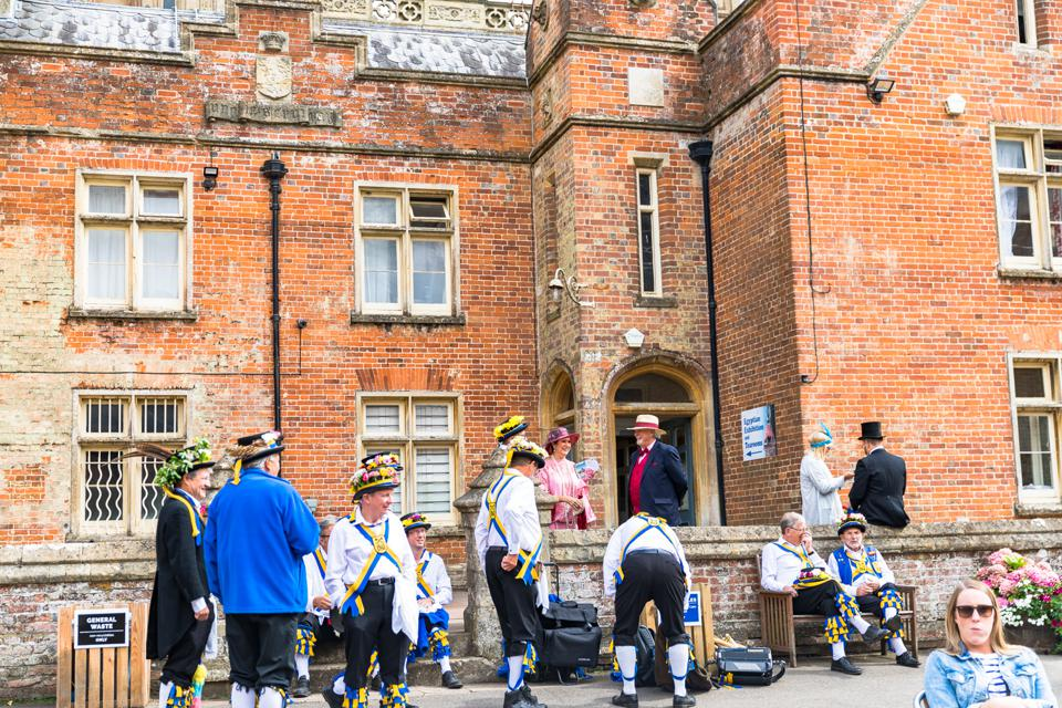 HIGHCLERE CASTLE - Some musicians and performers at the launch of Highclere Castle Gin