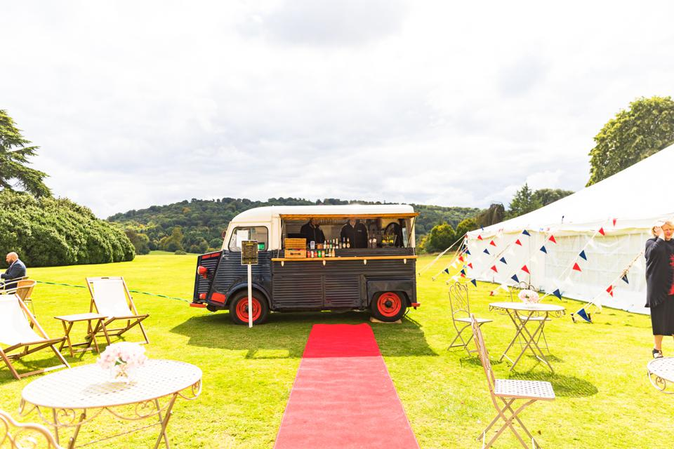 HIGHCLERE CASTLE - A drinks truck at the launch of Highclere Castle Gin